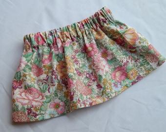 Vintage Multi Floral Baby/Toddler Skirt