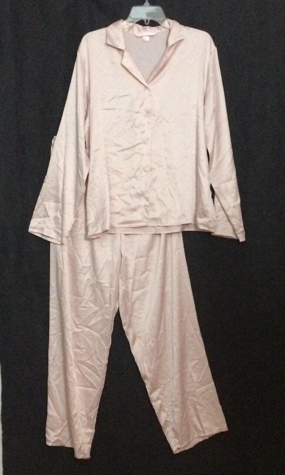 Victoria's Secret Pink Satin Pajamas Women's Large