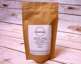 Toffee Apple - Handmade bath salts, Bath Fizzy || TheEthicalCompany
