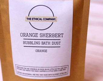 Orange Sherbert Bath Dust - Handmade Bath Bomb, Bath Fizzy || TheEthicalCompany