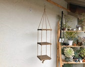 Tiered plant stand - hanging shelves