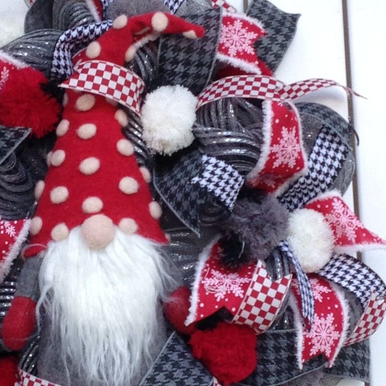 Gnome Decorations Front Door Wreath Gnome Christmas Wreath Christmas Decor Christmas Wreath Gnome Decor Whimsical Wreath,Winter Wreath