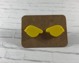 Canary Yellow Earrings