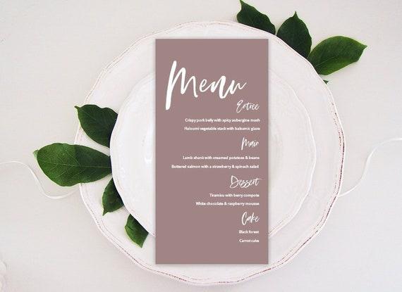 graphic relating to Printable Wedding Menus titled Marriage ceremony Menus, Marriage Menu Template, Printable Wedding day Menu, Menu Template, Printable Menu, Impressive Menu, Blush Purple Menu