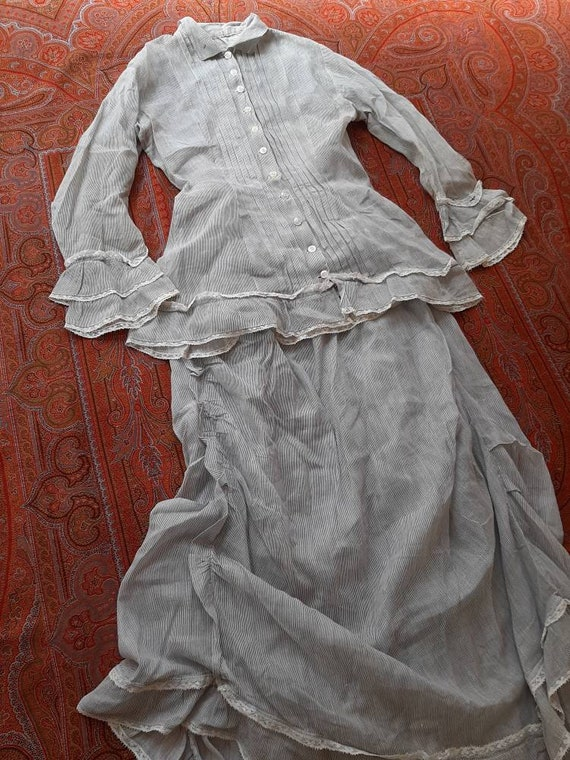 Early Antique Victorian 1880s Cotton Prairie Count