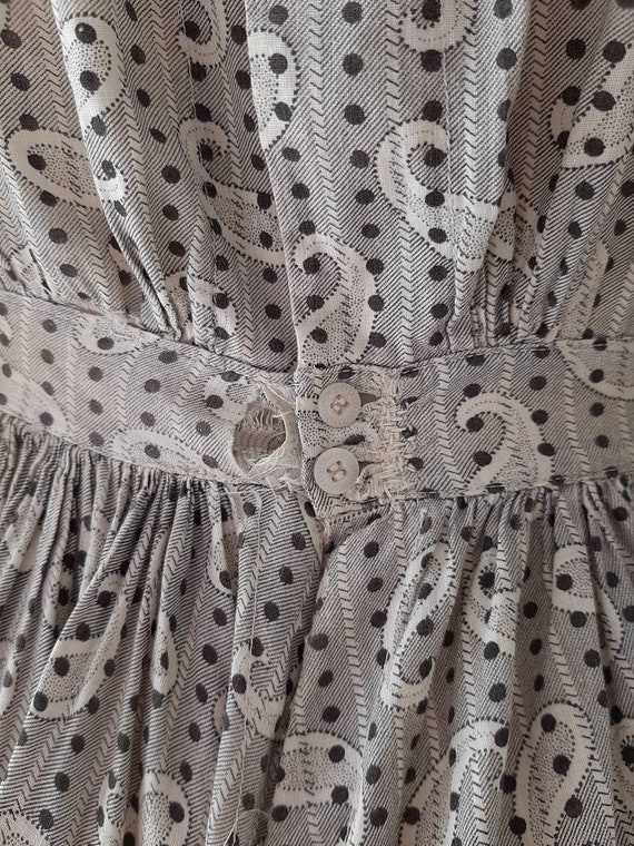 Early Antique 1900s Country Calico Patched Cotton… - image 6