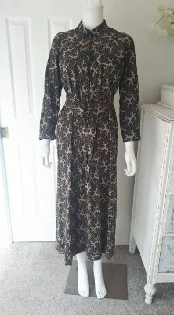 Antique 1900 Victorian Calico Wrapper Dress - image 2