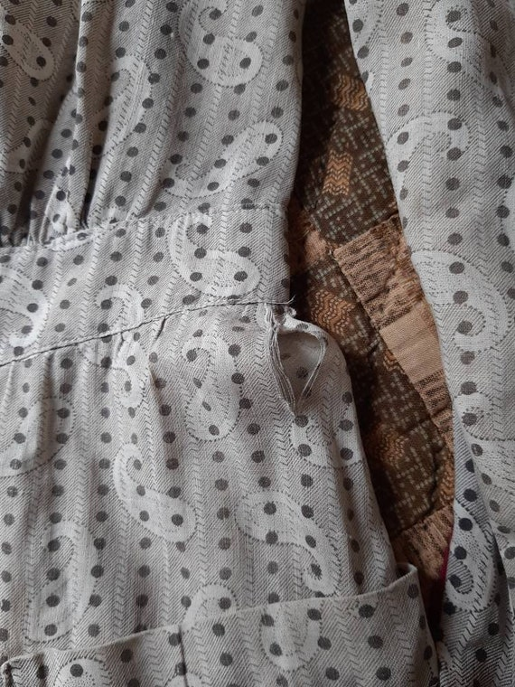 Early Antique 1900s Country Calico Patched Cotton… - image 7
