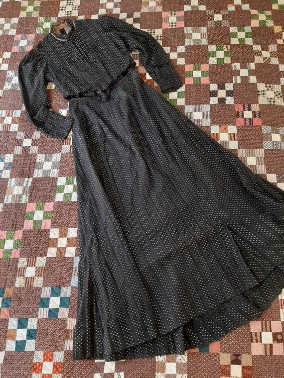 Antique Victorian Edwardian 1900  Polka Dot Calico