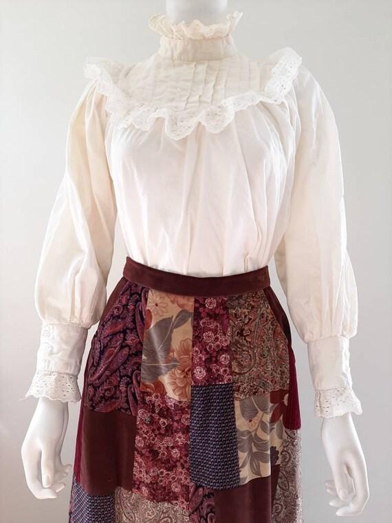 Vintage Victorian Style White Cotton Mutton Sleeve