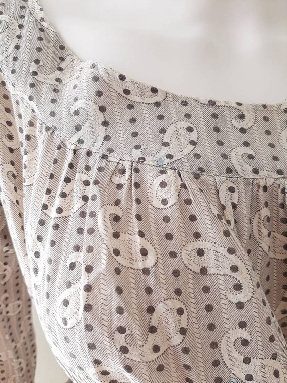Early Antique 1900s Country Calico Patched Cotton… - image 9