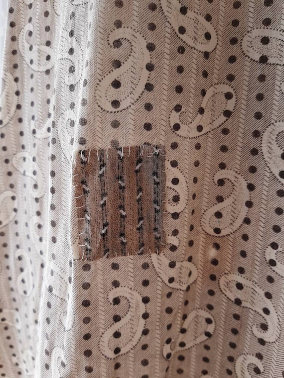 Early Antique 1900s Country Calico Patched Cotton… - image 10