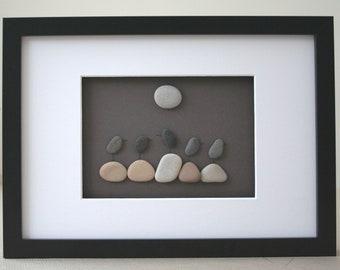 Pebble art, Pebble art picture, Pebble art birds, Pebble art seagull, Seagull picture, Birds picture, Teacher gift, Teacher's day, Wall art