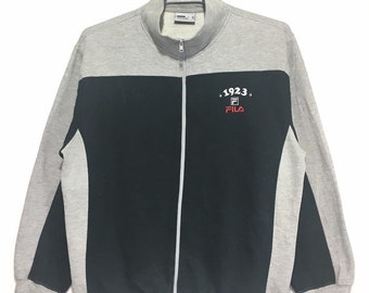 ae5e7a78a863 Vintage Fila Full Zip Sweater Embroidery logo