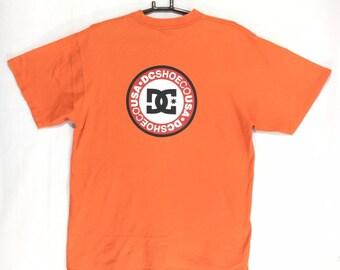 6516cce29feb Vintage Skateboarding Brand DC shoe USA big logo t-shirt
