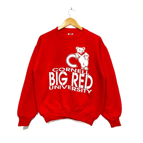 Vintage 80s Cornell Big Red University Distress Sw
