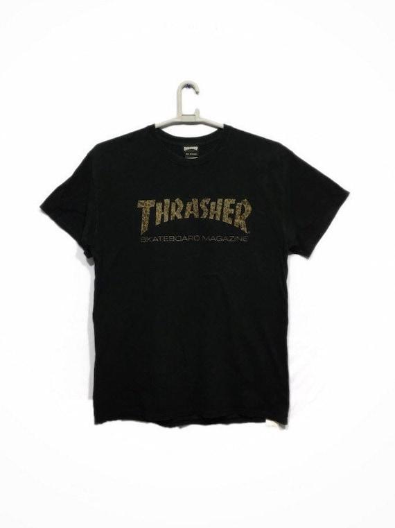 Vintage Thrasher Skateboard Magazine Leopard logo