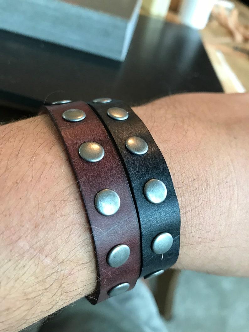 dbc3a2843301b Leather Bracelet with Rivets