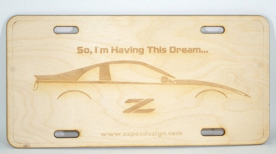 Set of 4 Laser-Engraved Ornaments for Nissan 300zx Z32 enthusiasts