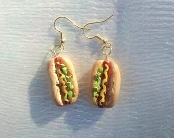 Hot bun earrings