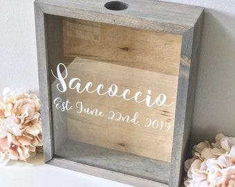 Wine Cork Holder   Wood Guest Shadow Box   Guest Book Alternative   Wedding Cork Cap or Tab Display Case   Bridal Shower Gift   Wedding Gift