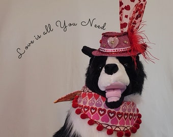 Valentines Day, pet costume, Halloween Bandanas, Halloween for pets, dog hat, hat for dogs, Halloween for dogs