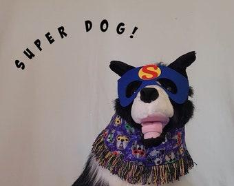 Super Dog, pet costume, Halloween Bandanas, Halloween for pets, dog hat, hat for dogs, Halloween for dogs