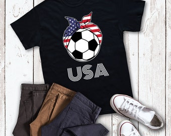 48bfee78487 USA Womens Soccer T Shirt, France 2019 Shirt, US Woman National Soccer Team,  Womens Soccer Kit, usa France 2019 Soccer Tee. US Womens Futbal