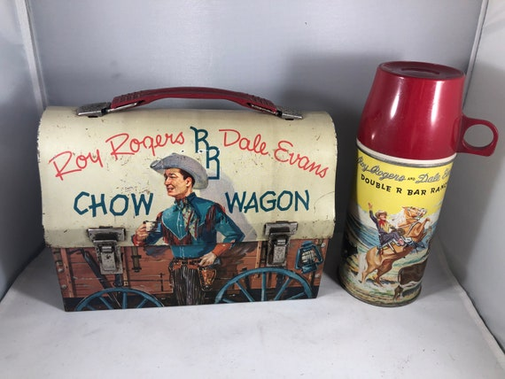 Roy Rogers and Dale Evans Chow Wagon Lunchbox and Thermos