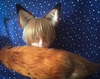 014dbcb8a18 Fox Ears and Tail Nick Wilde Zootopia Cosplay Faux Fur Furry Costume