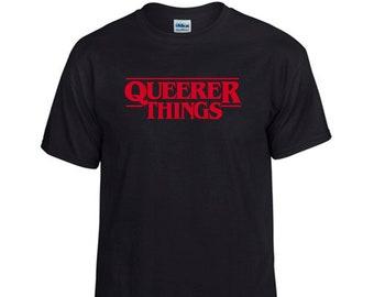 Queerer Things T-shirt, black - LGBTQIA Pride, queer, gay, stranger things parody