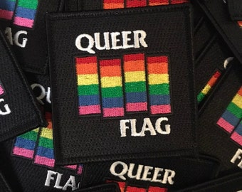 Queer Flag embroidered patch sew on / iron on