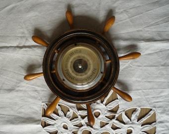 Vintage barometer bar boat - vintage barometer boat bar