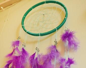 Handmade - Turquoise - Purple - Lilac - Dreamcatcher