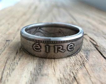 Irish Shilling Eire Coin Ring - Irish jewelry - Ireland Coin Ring - Eire Coin ring - Rings from Irish coins - Ireland