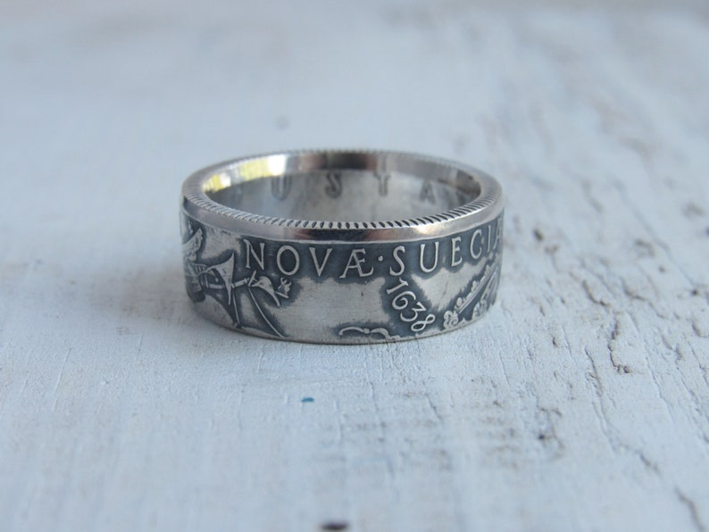 Swedish jewelry Sweden Ring from Swedish coin Swerige Silver Swedish coin ring Myntringar Sweden coin ring Suecia