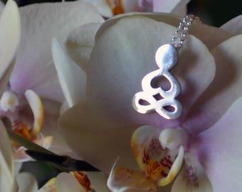 Yoga necklace - Buddha jewelry talisman - Spiritual gift in Sterling Silver .925