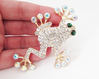 843a080ca Gold Frog Brooch, Frog Brooch Pin, Large Toad Brooch, Big Gold Toad Brooch, Frog  Brooch, Frog Jewellery, Frog Gift, Toad Pin