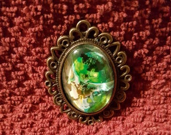Green and Gold Pendant
