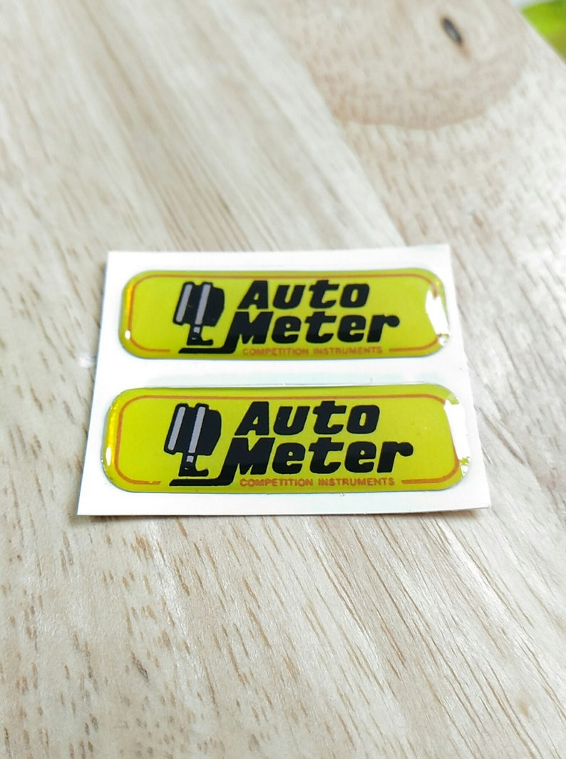 2x Auto Meter 3d Domed Decal Gel Sticker Aufkleber Autocollant 39mm X 13mm Racing Tuning Hot Rod Drag Autometer