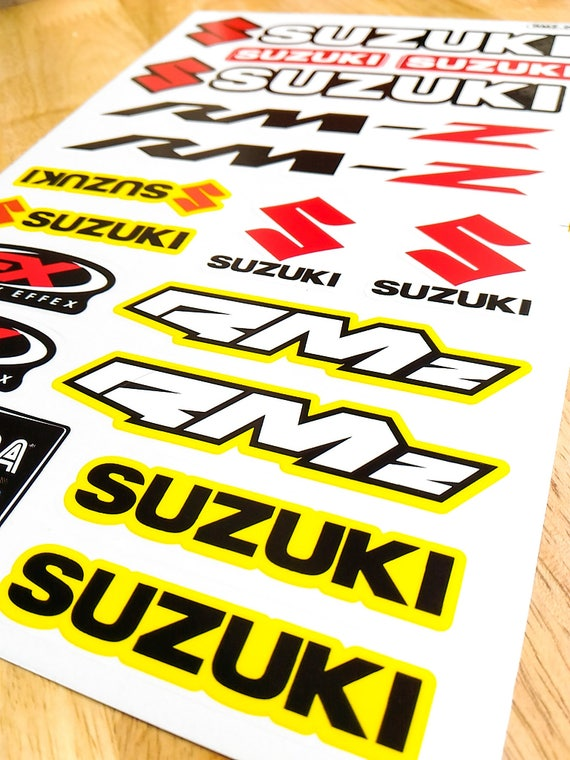 17in1 Suzuki Sticker Die Cut Vinyl Aufkleber Autocollant Motorcycle Motocross Rm Z Decal