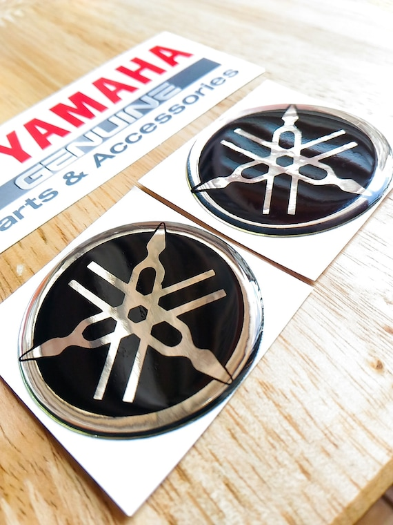 2x 40mm Yamaha Motorcycle Logo Badge Emblem 3d Domed Decal Sticker Aufkleber Autocollant