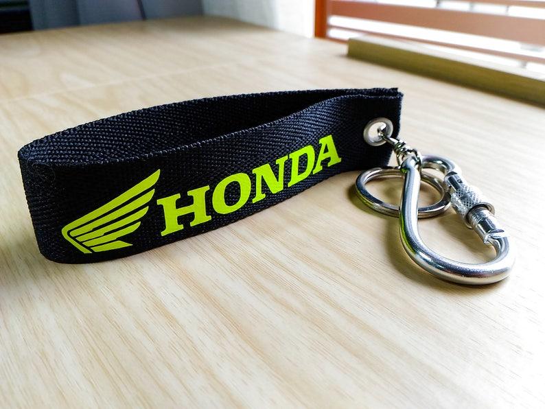 Honda Keychain Double Sided Lanyard Carabiner Motorcycle Etsy