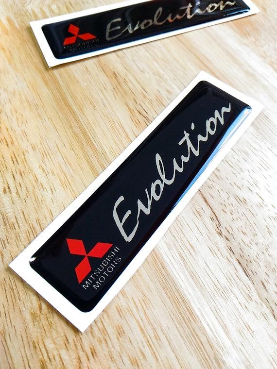 Mitsubishi Evolution 3d Domed Decal Gel Sticker Aufkleber Autocollant 100mm X 25mm Lancer Evo 5 6 7 8 9 X