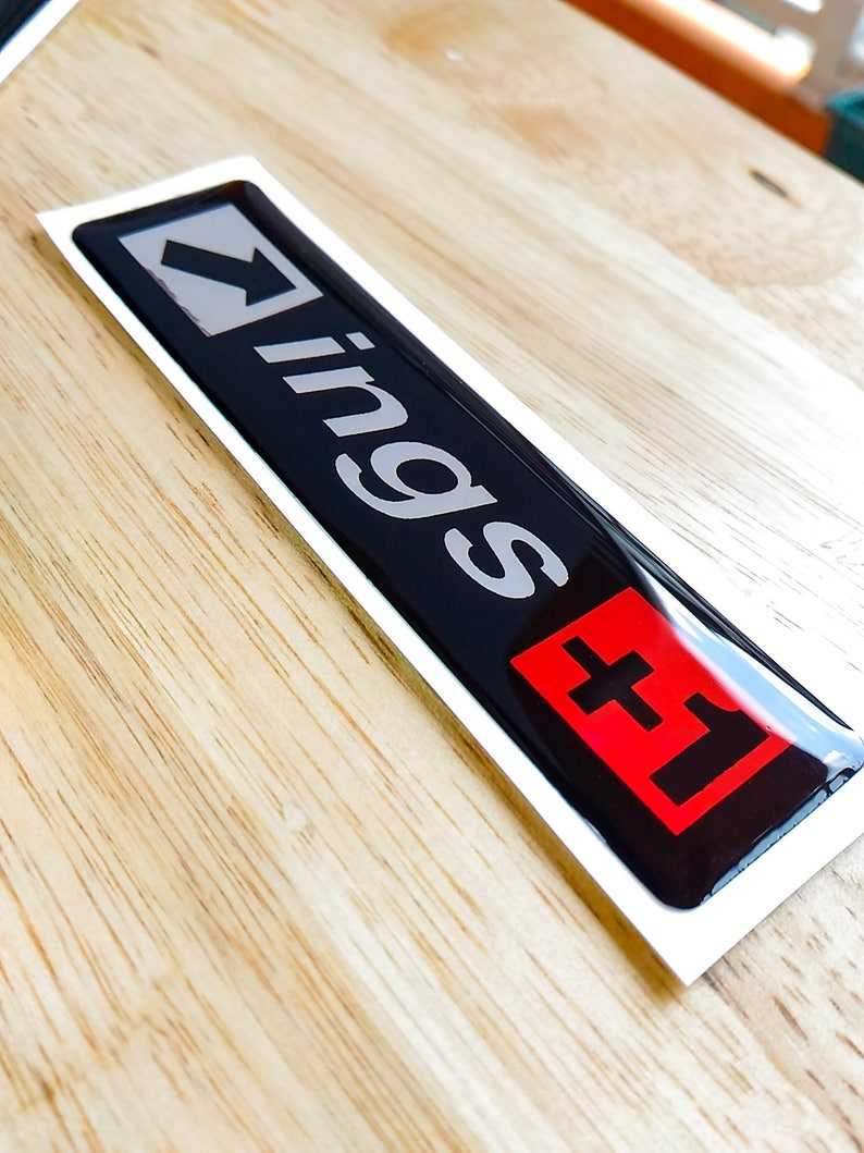 Ings 3d Domed Decal Gel Sticker Aufkleber Autocollant 100mm X 25mm Honda Toyota Subaru Nissan Mitsubishi Racing Tuning