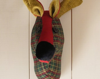 Faux taxidermy Reindeer Head