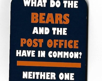 Anti Chicago Bears funny magnet for Green Bay Packer fans, Meme Magnet