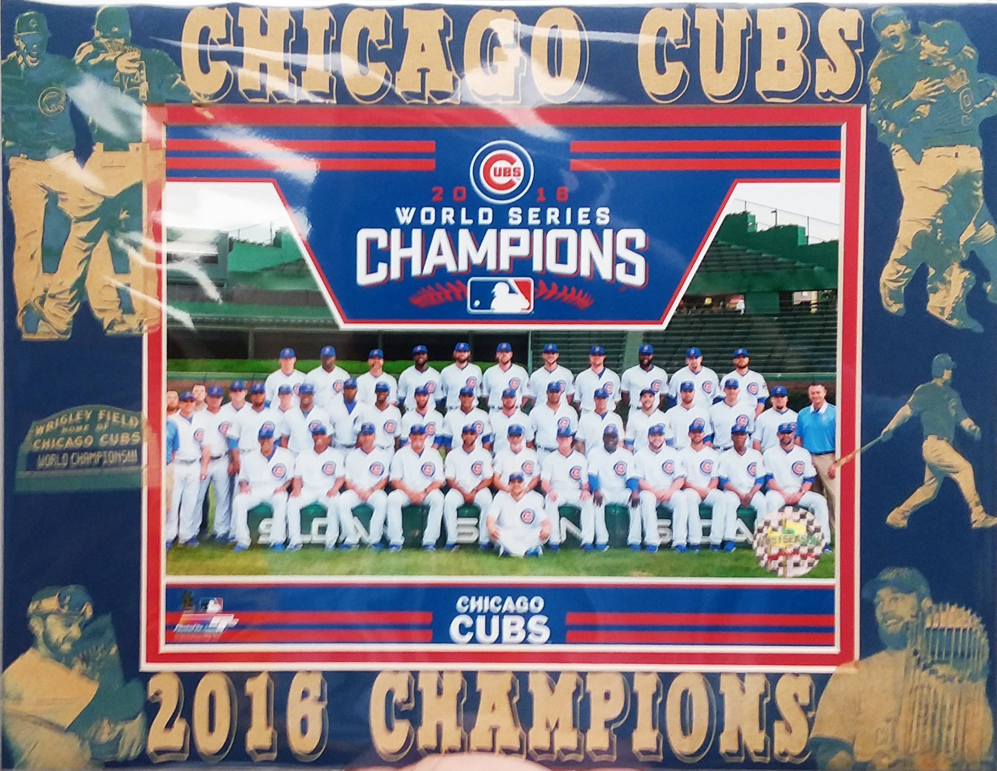 6c03f673c Chicago Cubs 2016 World Series Champions matted team photo