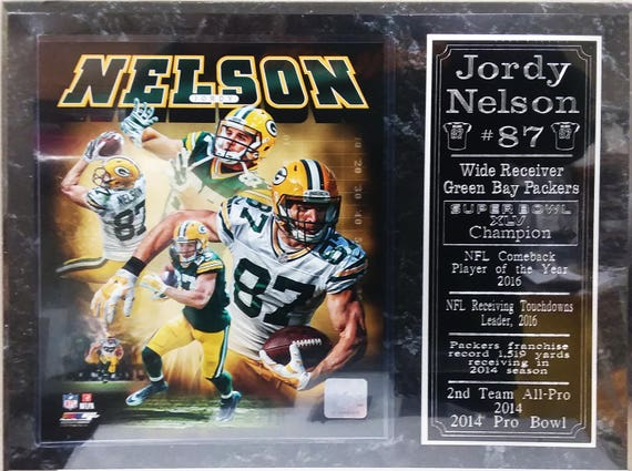 New Jordy Nelson Green Bay Packers Plaque | Etsy  for sale