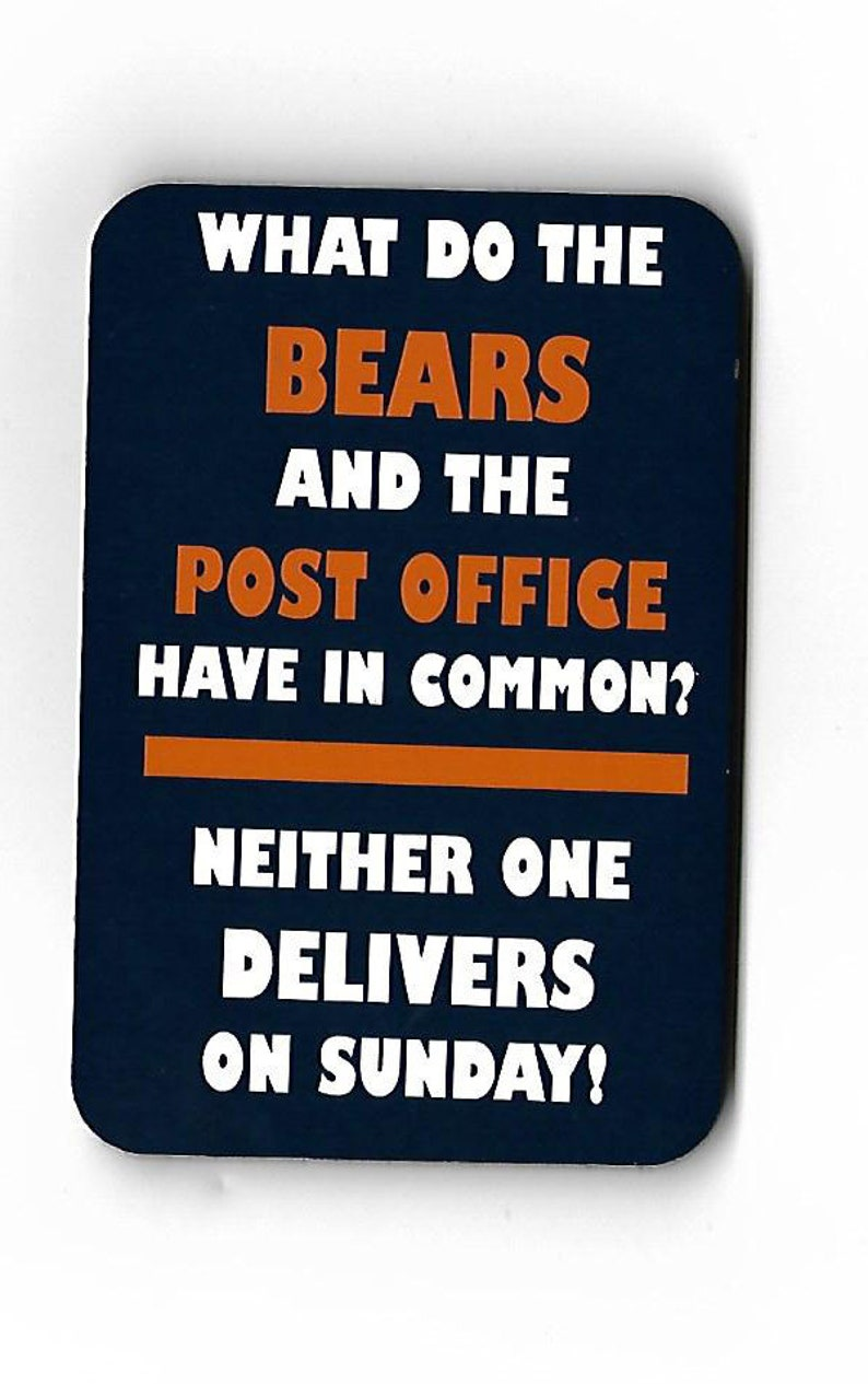 871f693bd9 Anti Chicago Bears funny magnet for Green Bay Packer fans | Etsy